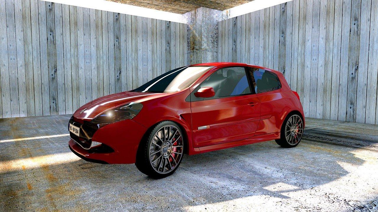 renault clio, car, garage