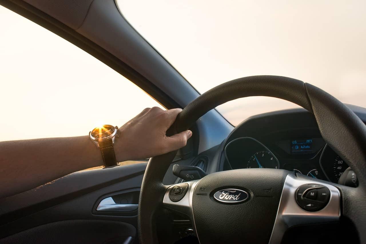 car, driving, man